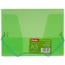 Teczka na gumkę A5, transparentna zielona